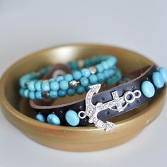 Leather cuff bracelets are a fortune at the department store - make your own with beads and this simple tutorial!