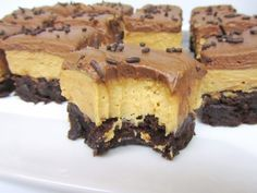 Peanut Butter Fudge Brownies - Brownie-base, Peanut butter-cream cheese, chocolate cream cheese