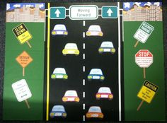 """Need a bulletin board for student roles/jobs? This is for you! Take cars and write the job title on the front or rear window. Put the name of each student on a """"license plate."""" Laminate the cars and the license plates. Add Velcro to the back of the license plates and where the license plate goes on the car for easy switching when it is time to rotate jobs! I made signs with classroom """"rules"""" or """"things to think about."""""""