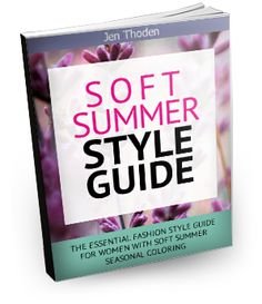 Soft Summer Style Guide ~ Discover how to wear your soft summer colors with over 100 outfit ideas and color combinations. Click to learn more...