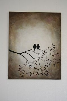 @Abbi Oakley Oakley Uitermarkt @Arica Smith Smith Brinegar Canvas painting of birds. Love birds!