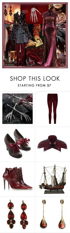 """House Drumm."" by lillian-pandola ❤ liked on Polyvore featuring Grandin Road, Poetic Licence, Zuhair Murad, Úna Burke, Tabitha Simmons and Wouters & Hendrix Gold"