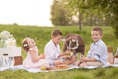 Farm Fresh Dream Session featuring a picnic as a family (and of course with some baby animals) on a local farm! Lambs, goats and cows take center stage in this one!