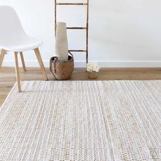 Rug Inspiration, Ikea Cabinets, Body Heat, White Beige, Woven Rug, Hygge, Scandinavian, Hand Weaving, Rugs