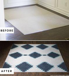 DIY: painted rug inspired by West Elm