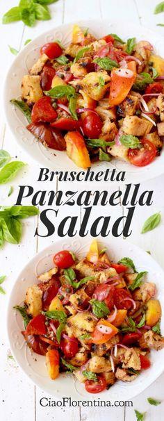 Grilled Bruschetta Panzanella Salad Recipe | CiaoFlorentina.com @CiaoFlorentina