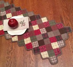 Rosewood Quilted Table Runner - Retro Barn Country Linens - 1 Love the colors of this Runner!