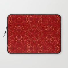 Red particles laptop sleeve