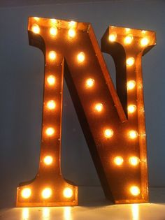 Vintage Marquee Lights  Letter N by VintageMarqueeLights on Etsy, $199.00