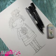 Finally back in the studio again after some traveling  starting off with a sketch of a girl with curly hair