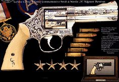 General George S. Patton's Smith revolver in .357 Magnum,Serial Number 47022 Shipped on 18 October 1935.