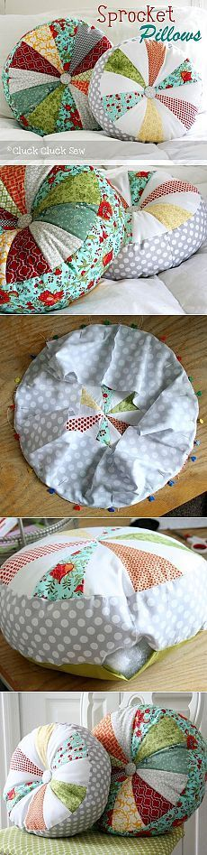 How to sew a pillow round. How to sew a pillow round. Patchwork. ~ http://HandMadiya.com