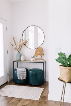 front entry round mirror