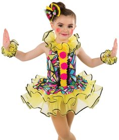 """View our awesome collection of Character & Theme costumes…choices from Cuddly Cats to Ferocious Lions, Patriotic to """"Jailhouse Rock"""", Poodle Skirts to """"Mod Squad"""" and lots more! Girl Clown Costume, Jester Costume, Circus Costume, Cute Baby Costumes, Dance Costumes Lyrical, Little Girl Models, Fantasias Halloween, Send In The Clowns, Dance Fashion"""