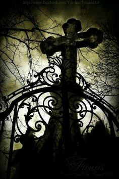 Gothic Cross - love it Dark Gothic, Gothic Art, Gothic Girls, Gothic Steampunk, Victorian Gothic, Dark Beauty, Gothic Beauty, Art Zombie, Old Cemeteries