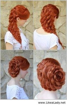 hairstyle fuupon.com/ Love this short hair style Hairstyle, Long Hair, Braid I want to do this on your hair!