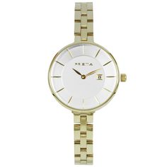 Dames horloge PRISMA PURIFY PLAIN GOLD Prisma ladies watch Details: Model – P.1528 Sexe – Lady Movement – VX82 met datum Case size – 30 mm Case thickness – 7 mm Band – 8 mm Water resist – 30 meter Material – All Stainless Steel