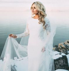 Witney Carson & Carson McAllister Share New Wedding Pics With JJJ (Exclusive): Photo Witney Carson is a seriously, stunning bride! The Dancing With The Stars pro tied the knot with Carson McAllister on New Year's Day (January at… Celebrity Wedding Dresses, Modest Wedding Dresses, Celebrity Weddings, Celebrity Wedding Photos, Elegantes Outfit, Beautiful Celebrities, The Dress, Gown Dress, Dress Long