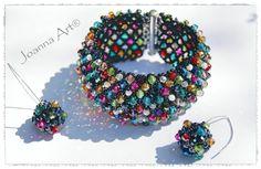 Capricho Earrings Bracelet Kolczyki i bransoleta beaded beads