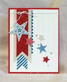 June 26, 2013  Stampin' Royalty Challenge #182  Carrie Stamps Simply Stars  Stampin' Up!