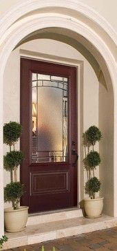 Belleville 1 Panel Hollister Door Lite with Element Glass and AvantGuard modern front doors Modern Front Door, Front Door Design, Front Door Colors, Front Door Decor, Porch Doors, Front Doors With Windows, Entry Doors, Entryway, Glass Panel Door