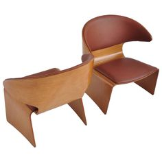 "Hans Olsen for Frem Rojle Teak ""Bikini"" Lounge Chairs 1"