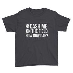 Cash Me On The Field Tee- Boys' Baseball Version
