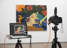 Tether Table Aero TetherPro USB cable and more! #Repost @juanpablomurrugarra Shoot #josetola #artist #pintura #galerialuciadelapuente #tethertools #juanpablomurrugarra #photography #setlife #cameragear #betterwhenyoutether