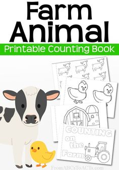 Practice both early math and early literacy skills with your toddler or preschooler and this free printable farm animal counting book!