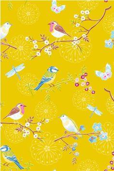 Afbeelding van Early Bird behang geel