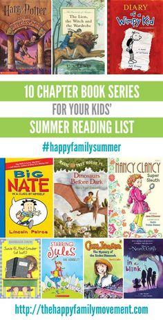 Ten chapter book series for kids summer reading list Summer Reading Program, Summer Reading Lists, Kids Reading, Fun Summer Activities, Reading Activities, Reading Resources, Books For Boys, Childrens Books, Kids Book Club