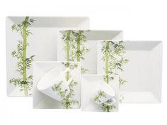 Aparelho de Jantar em Porcelana 42 Peças - Oxford Bamboo GM42241615