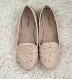 Nude studded flats. The link to this from the topshop website would be great but if you can find a pair like these but cheaper or in a different color that would be great too!