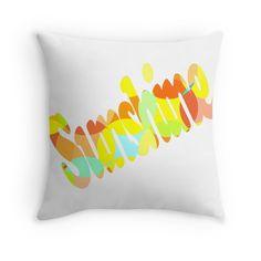 Sunshine - Throw Pillow Cover - http://annumar.com/en/designs/sunshine-throw-pillow-cover