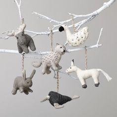 Winterland Plush Animal Ornaments