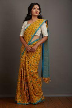 Manja Mandaaram Kaithari Saree