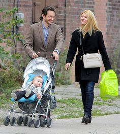 Claire's Cuties! Claire Danes and hubby Hugh Dancy (pushing adorable son Cyrus in a stroller) went for a walk in Toronto Oct. 5.