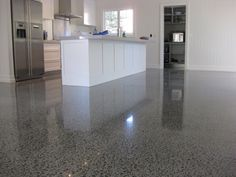 Polished concrete floor...terrazzo?