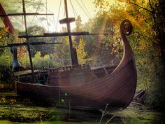 Pirates ship (Spreepark PlanterWald, near Treptower Park in Berlin)