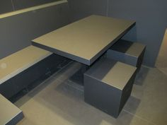 Table and seats made of FENIX NTM, Nanotech Matt Material.