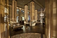 Livingston Restaurant + Bar @ Georgian Terrace Hotel by Puccini Group, via Behance