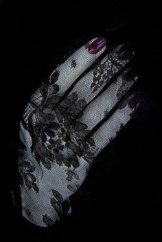 Coveted: Black lace gloves, funeral glam polish, and a photo shoot with Serge Lutens...❦