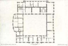 Plan of the second floor of Chatsworth, c. 1800(?)