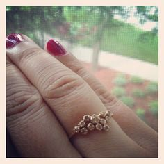 Simple wedding cluster ring