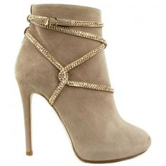 Beige & Gold Booties - Gorgeous! I want these!
