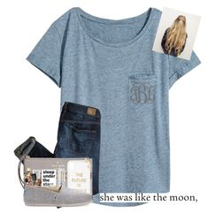 """""""the stars, moon, and airplanes saw it all."""" by erinleigh02 ❤ liked on Polyvore featuring H&M, American Eagle Outfitters, Kate Spade, Sonix, tarte, TOMS, Americanflat, philosophy, NARS Cosmetics and Stila"""