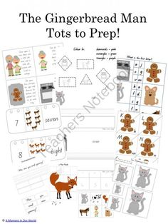 Man Gingerbread word Pack A  Moment Our In to Tots on sight activities from prep  World The  Prep