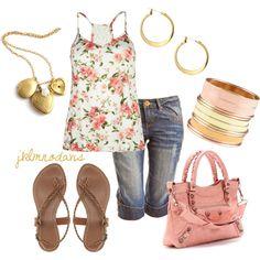 """""""Summer Pink"""" by jklmnodavis on Polyvore"""