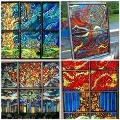 Custom Stained Glass Mosaic Windows by mandolin2 on Etsy, $1800.00  Amanda Edwards has beautiful mosaics.
