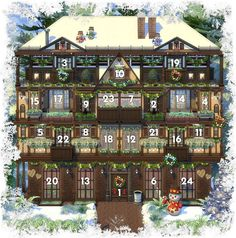 Sims 4 CC's - The Best: Sims 4 Advent Calendars by Akisima